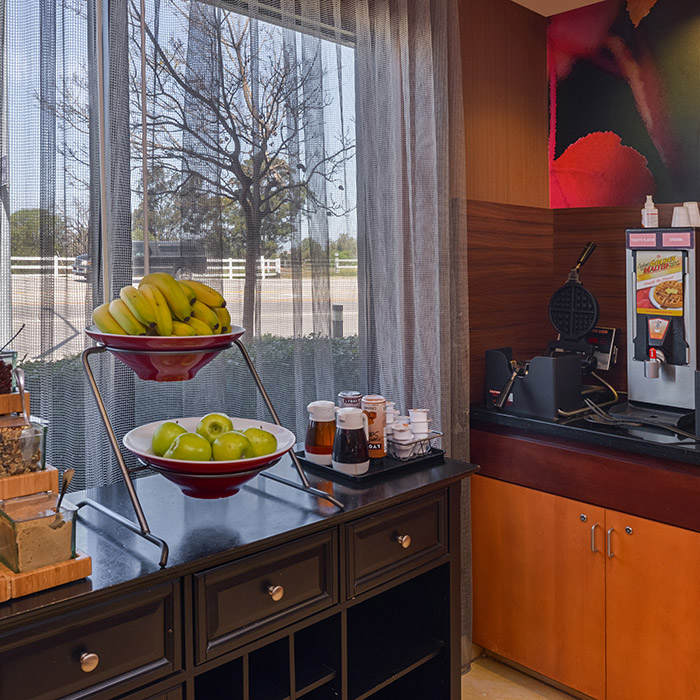 Marriott hotel, Santa Maria Valley, California, breakfast