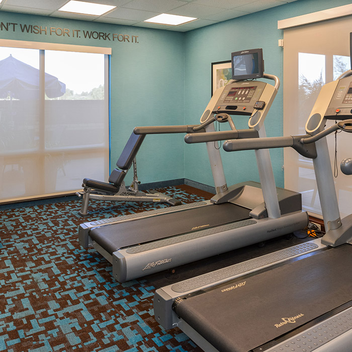 Marriott hotel, fitness center, Santa Maria Valley, California