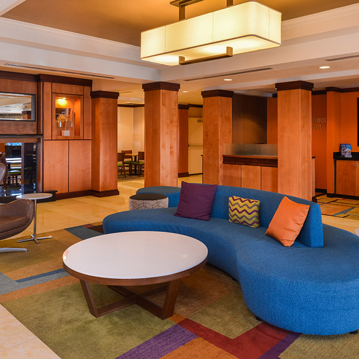 Fairfield Inn, Marriott, hotel, Santa Maria Valley, California, lobby